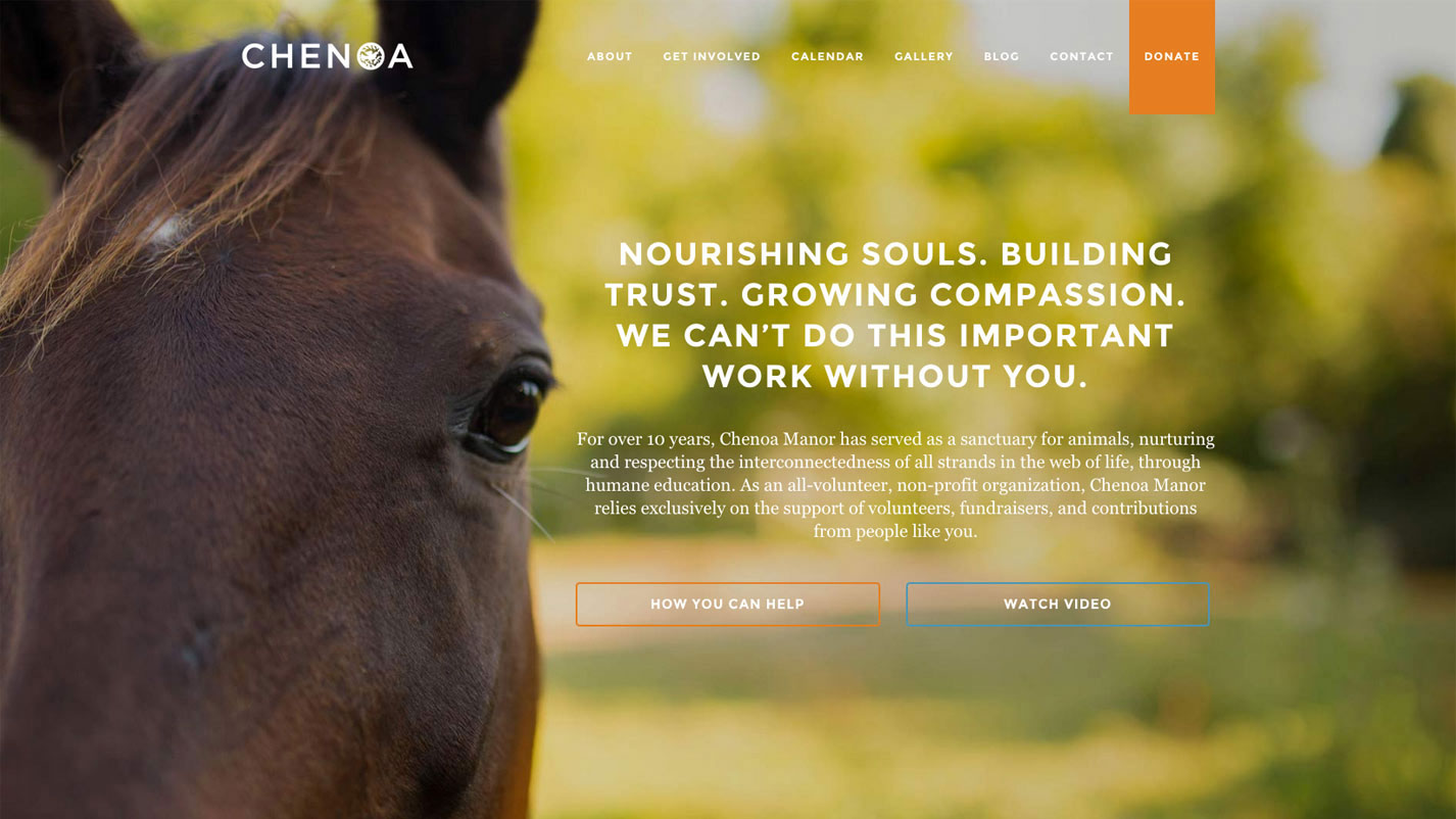 Chenoa Manor Website by Creating Matter